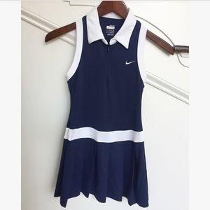 Nike Fit Navy Blue & White Sleeveless Tennis Dress